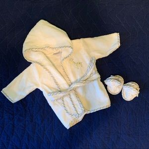 Infant robe and slippers
